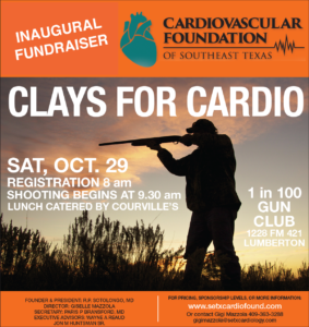 Cardiovascular Foundation of Southeast Texas Announces Upcoming Fundraiser Event