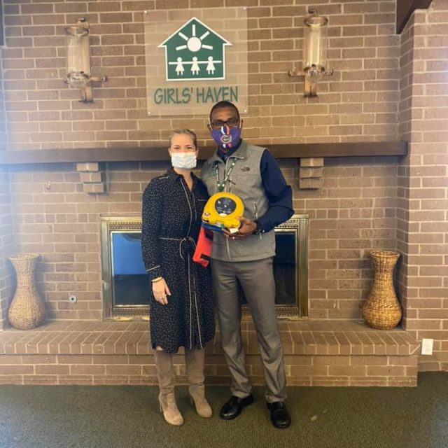 AED Donation and Training to Girls' Haven
